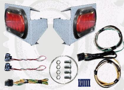 LED Light kit for motorcycle lift for motorhome