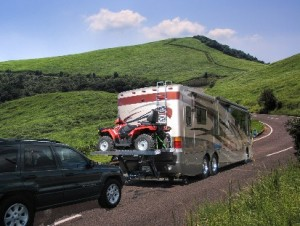 towing ATV country