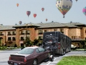 Towing ballon