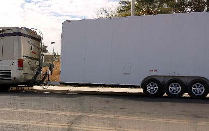 motorcycle lift towing enclosed trailer