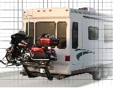 Motorcycle lift for 5th wheel