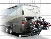 Motorcycle lift for motorhome
