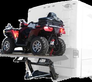 ATV on Motorhome Hydralift