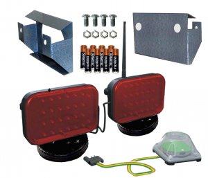 Wireless LED tail light kit
