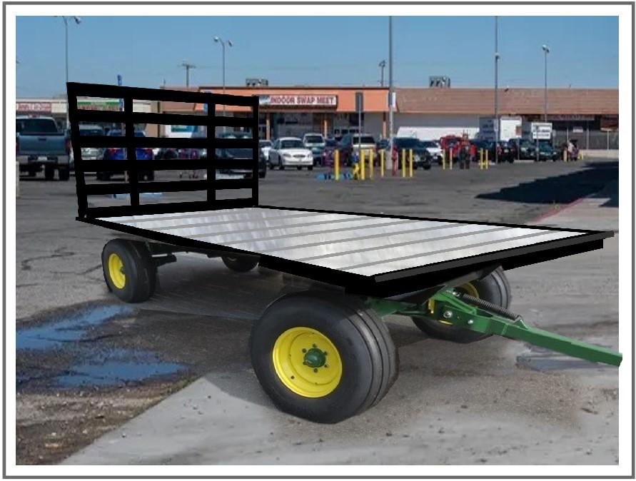 Harvest Trailer after Hydralift extruded aluminum trailer deck