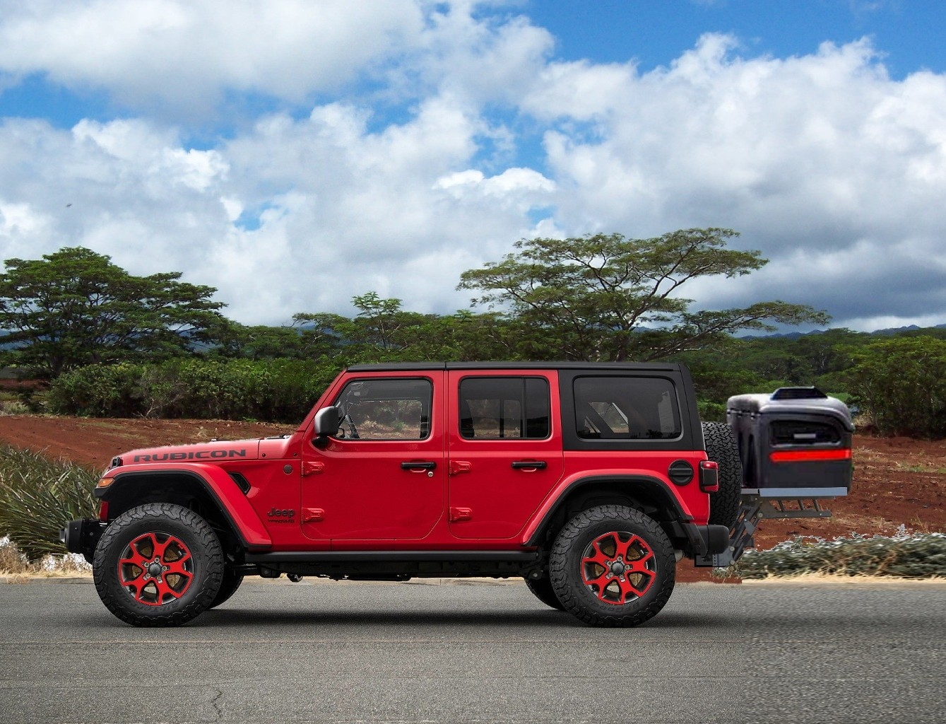 Jeep cargo carrier lift by Hydralift