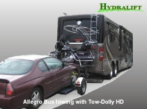 Towing Allegro Bus Towing with Tow Dolly HD