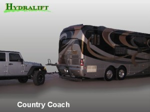 Towing Country Coach a