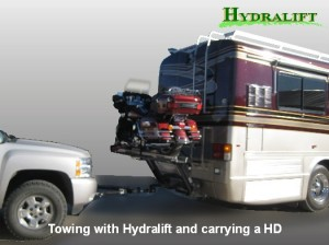 Towing with Hydralift carrying a HD